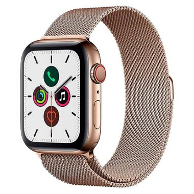 New Apple Watch Series 5 GPS + LTE 44mm Gold Stainless Steel Case with Gold Milanese Loop (MWW62)