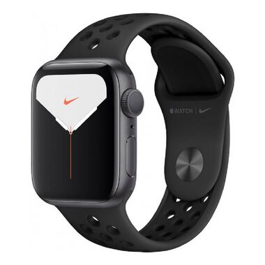 New Apple Watch Nike Series 5 GPS 40mm Space Gray Aluminum w. Anthracite/Black Sport Band (MX3T2)