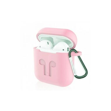 Чехол-карабин Silicon case for AirPods Pink Sand