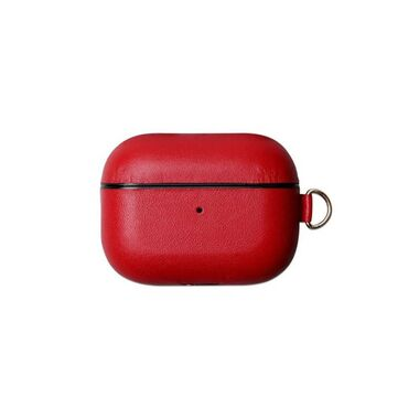 Чехол Leather Case for Airpods Pro Red