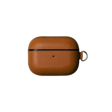 Чехол Leather Case for Airpods Pro Saddle Brown
