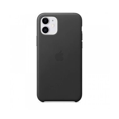 Чехол Apple Leather Case for iPhone 11 Black