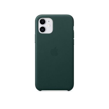Чехол Apple Leather Case for iPhone 11 Forest Green