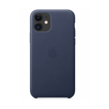 Чехол Apple Leather Case for iPhone 11 Midnight Blue