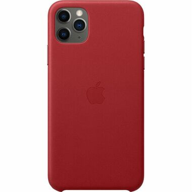 Чехол Apple Leather Case for iPhone 11 Pro Max Red