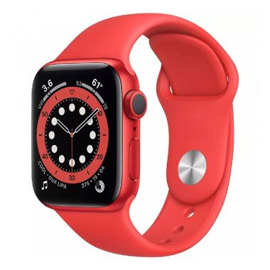 New Apple Watch Series 6 GPS 44mm (PRODUCT) RED Aluminum Case with (PRODUCT) RED Sport Band (M00M3)
