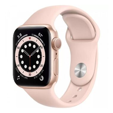 New Apple Watch Series 6 GPS 44mm Gold Aluminum Case with Pink Sand Sport Band (M00E3)
