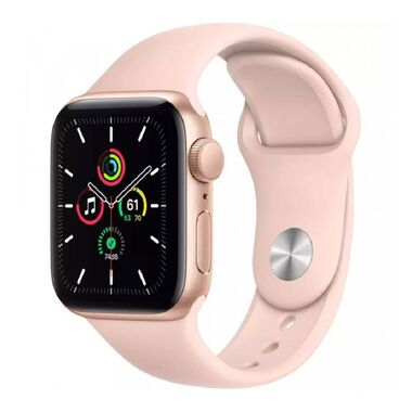 New Apple Watch Series SE GPS 44mm Gold Aluminum Case with Pink Sand Sport Band (MYDR2)