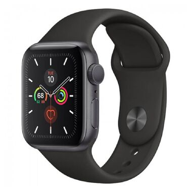 New Apple Watch Series 5 GPS 40mm Space Gray Aluminum Case with Black Sport Band (MWV82)
