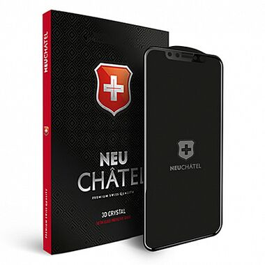 Защитное стекло +NEU Chatel Full Cover Crystal with Mash for iPhone 12/12 Pro Front Clear