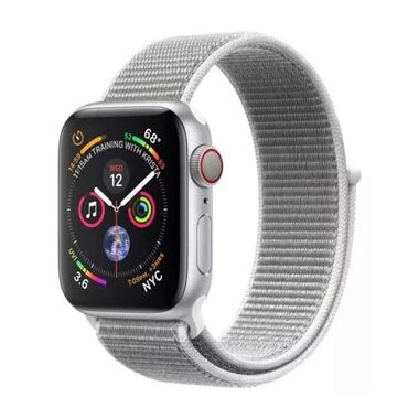 Б/У Apple Watch Series 4 GPS + LTE 40mm Silver Aluminum Case with Seashell Sport Loop