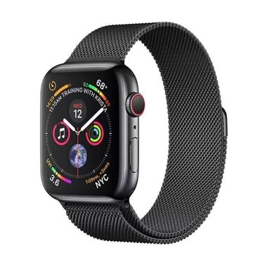 Б/У Apple Watch Series 4 GPS + LTE 40mm Space Black Stainless Steel Case with Space Black Milanese Loop