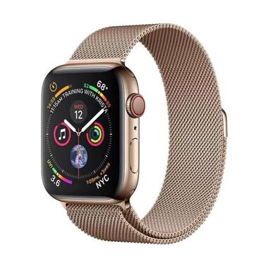 Б/У Apple Watch Series 4 GPS + LTE 40mm Gold Stainless Steel Case with Gold Milanese Loop