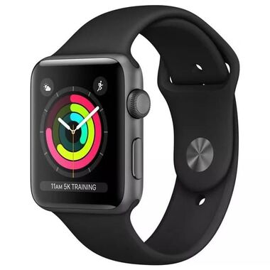 Б/У Apple Watch Series 3 GPS 38mm Space Gray Aluminum Case with Black Sport Band