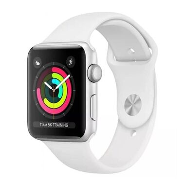 Б/У Apple Watch Series 3 GPS 38mm Silver Aluminum Case with White Sport Band