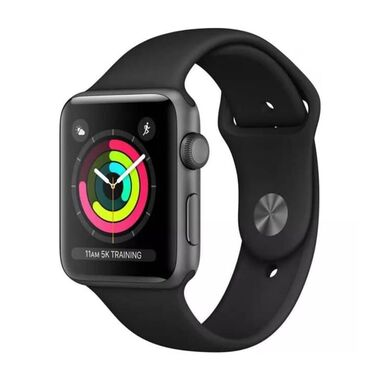 Б/У Apple Watch Series 3 GPS + LTE 42mm Space Gray w. Black Sport Band