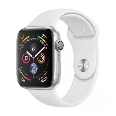 Б/У Apple Watch Series 4 GPS + LTE 40mm Stainless Steel Case with White Sport Band