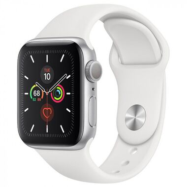 Б/У Apple Watch Series 5 44mm GPS Silver Aluminum Case with White Sport Band