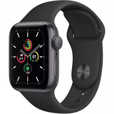 New Apple Watch Series SE GPS 40mm SG Aluminum Case with Midnight Sport Band (MKQ13)