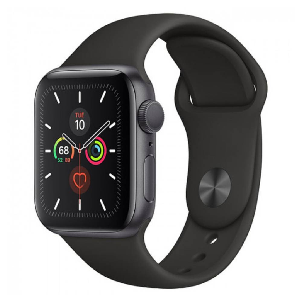 New Apple Watch Series 5 GPS + LTE 40mm Space Gray Aluminum Case with Black Sport Band (MWWQ2)